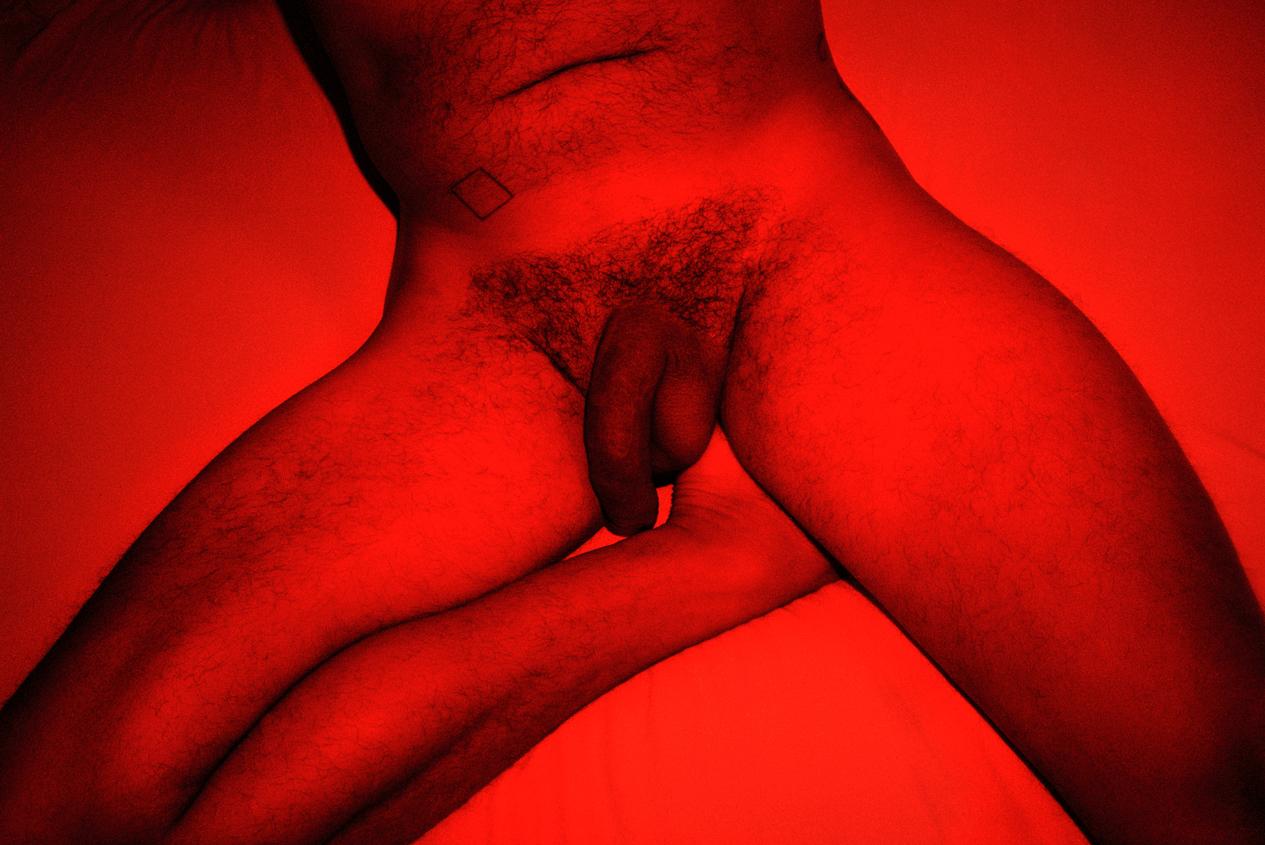 Artistic male penis redscale