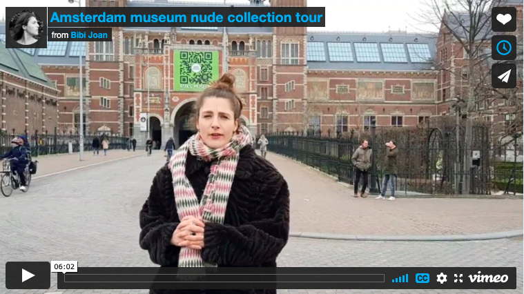 Video of nude museum tour by Bibi Joan